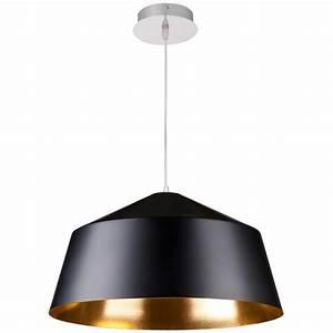 Hängelampe Schwarz Metall : h ngelampe metall schwarz gold pendelleuchte schwarz gold durchmesser 56 cm ~ Markanthonyermac.com Haus und Dekorationen