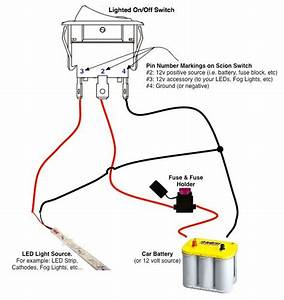 On  Off Switch  U0026 Led Rocker Switch Wiring Diagrams