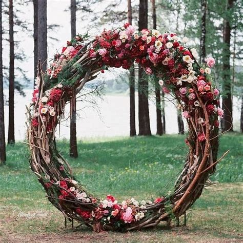 top  wreath circle wedding arches backdrops roses rings