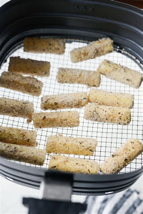 sticks mozzarella fryer air cheese basket homemade they spray