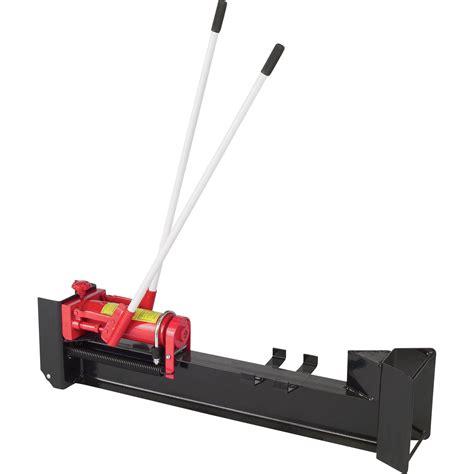 ironton horizontal manual hydraulic log splitter  ton