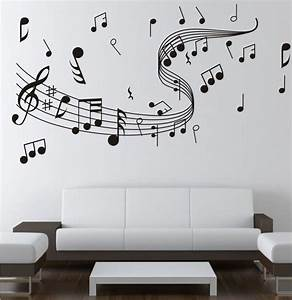 Music note wall stickers decor home