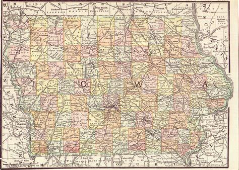 lowa map  large images