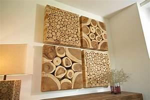 Wohnzimmer Wand Holz : holz deko wohnzimmer ~ Lizthompson.info Haus und Dekorationen