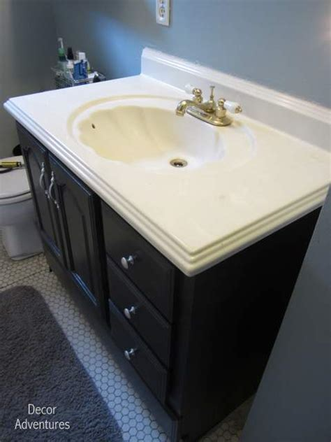 how to remove a countertop from a vanity 187 decor adventures