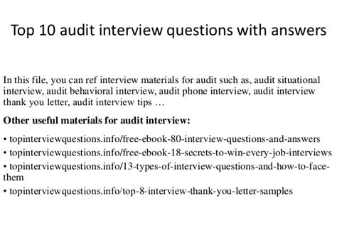 Audit Questions And Answers by Top 10 Audit Questions With Answers