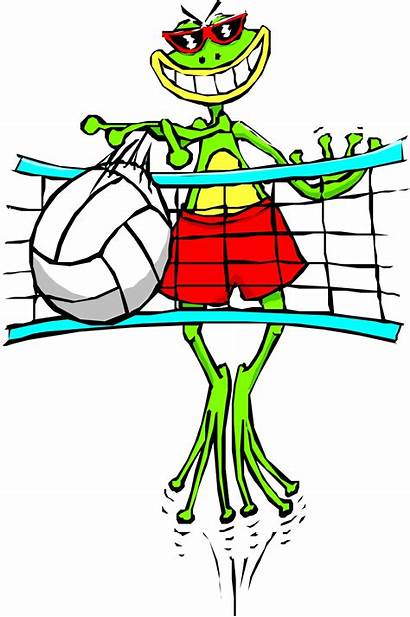 Volleyball Cartoon Clipart Animated Clip Cool Ball