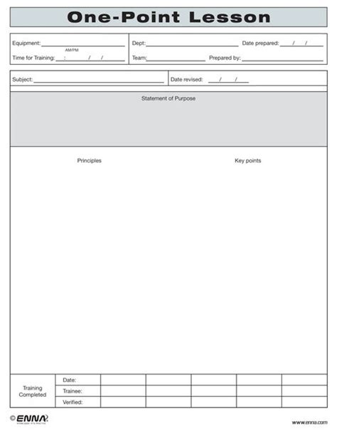 Tpm One-point Lesson Form