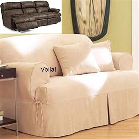 couch covers for reclining sofa reclining sofa t cushion slipcover ivory heavy suede