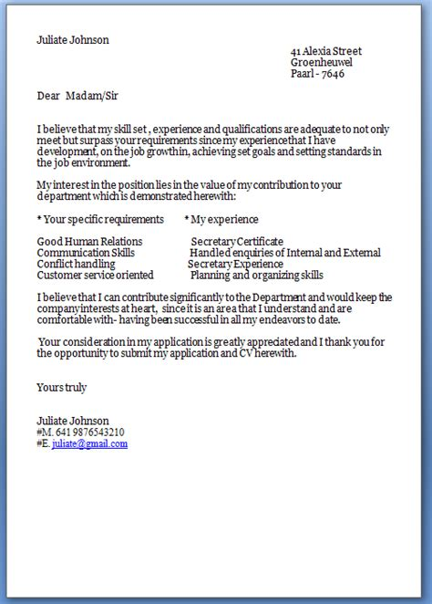 Cover Letter Template by Cover Letter Template