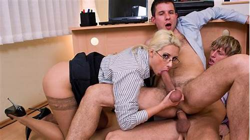 Bi Gang Fun In The Office #Mmf #Threeway #Anal #With #Daria #Glower #Tits #Sucked #And #Pussy