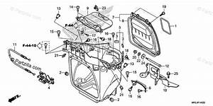 Honda Motorcycle 2018 Oem Parts Diagram For Luggage Box