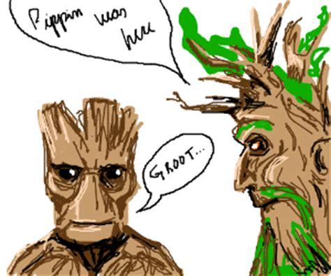 groot  treebeard reunite   drawception