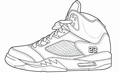 Jordan Coloring Pages Air Jordans Shoes Shoe