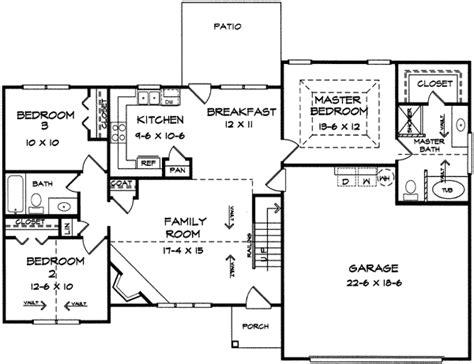 split level ranch house plans split bedroom ranch with bonus 3653dk 1st floor master