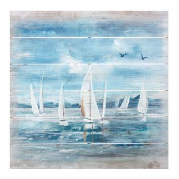painted sailboat wood wall decor hobby lobby