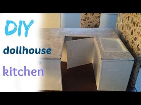 diy craft barbie dollhouse kitchen youtube