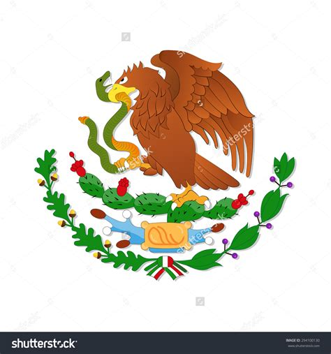 symbols of the snake in the mexican flag clipart 20 free ...