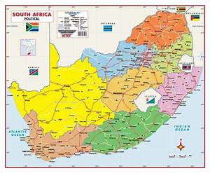 South Africa Political Wall Map -- MapStudio