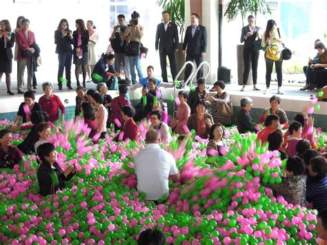 worlds largest ball pit  china benefits breast cancer