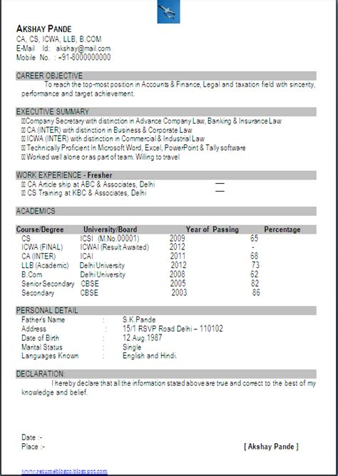 resume co excellent resume sle in one page of ca