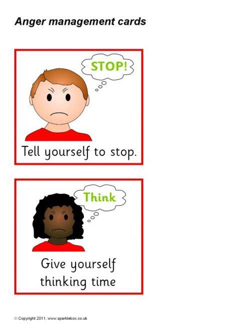 anger management cards sb sparklebox