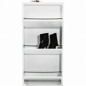 Casier A Chaussure : casier chaussure blanc caruso 3 tiroirs kare design ~ Nature-et-papiers.com Idées de Décoration