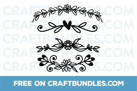 Free Floral Dividers Svg Cut File By Craftbundles.com