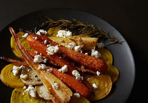 Roasted Fall Root Vegetable Salad With Fresh French Goat