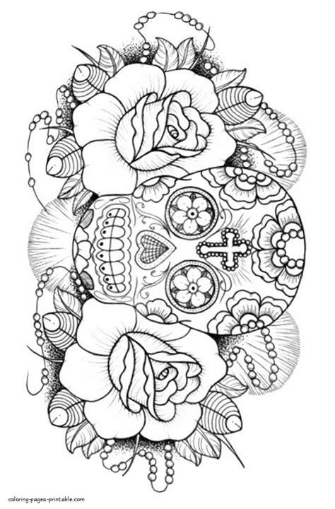 Sugar Skull Coloring Book For Adults   Skull coloring