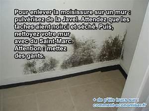 Tache De Javel : l 39 astuce efficace pour enlever la moisissure sur les murs ~ Voncanada.com Idées de Décoration
