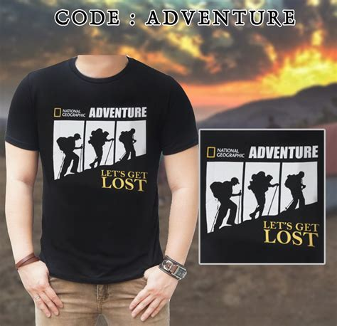 national geographic t shirt adventure hiking live my trip