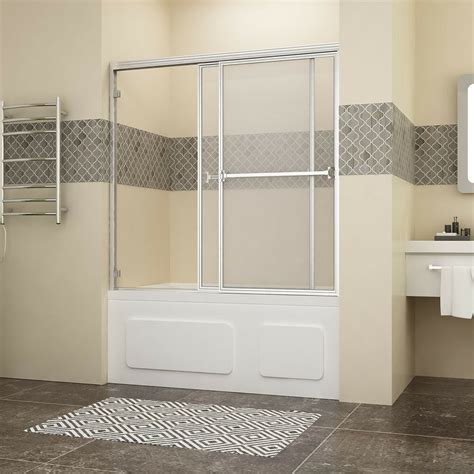 shower tub door shower 60 quot bypass sliding bathtub glass doors framed