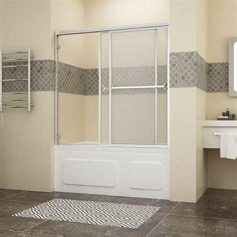 Bath Tub Shower Doors by Shower 60 Quot Bypass Sliding Bathtub Glass Doors Framed