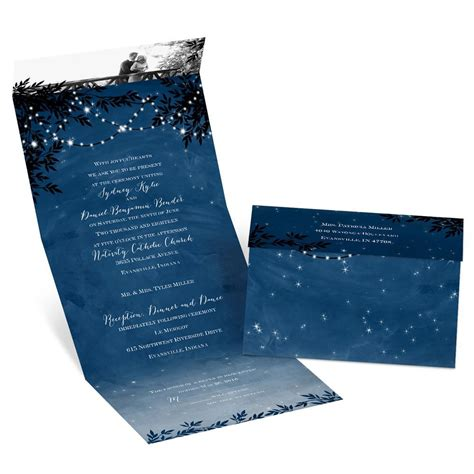 starry night seal  send invitation anns bridal bargains