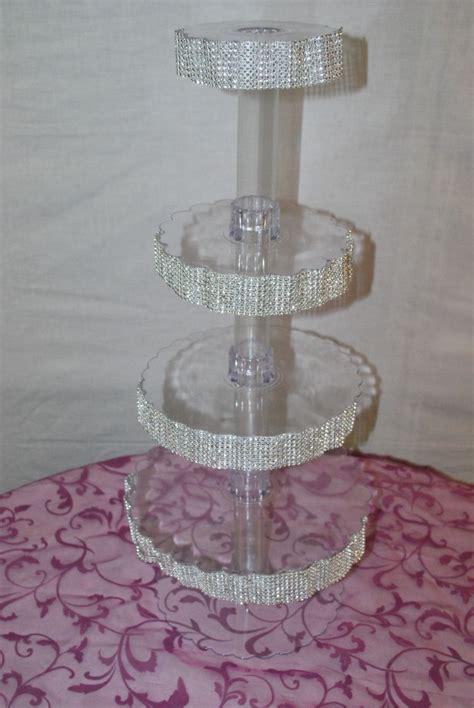 diy crystal cupcake stand project wedding