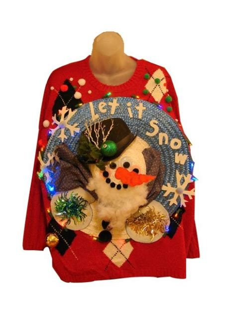 light up christmas sweaters sale let it snow ugly christmas sweaters for sale