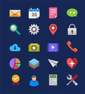 20 Flat Icons (PSD) - GraphicsFuel