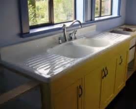 kitchen sink restoration i the vintage porcelain sink with drain boards 2858