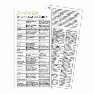 25 4x9 Essential Oil Reference Cards Doterra Or Young