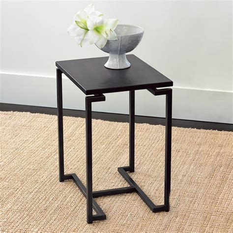 west elm side table steal of the day west elm faux shagreen side table