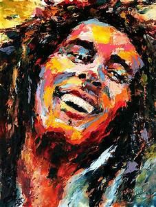 Bob Marley Painting by Derek Russell