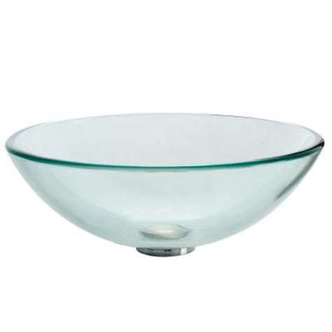 vessel sinks home depot kraus glass vessel sink in clear gv 101 the home depot