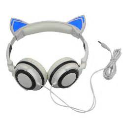 headphones with cat ears cat ear headphones gaming headset with led glowing lights