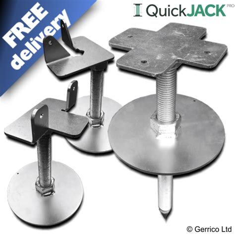 metal table legs quickjack pro ground adjustable easy fit shed base