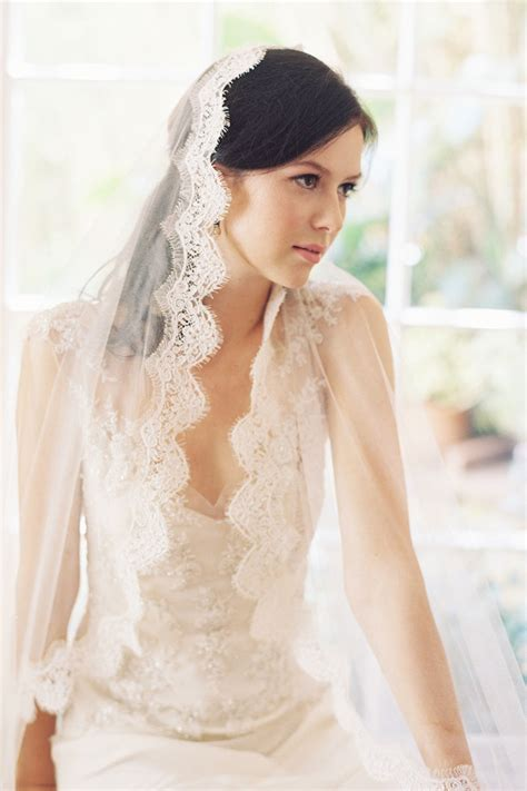 Mantilla Veil Bridal Veil French Lace Alencon Lace