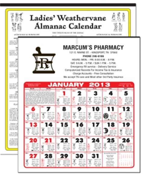 pharmacy calendars calendar company