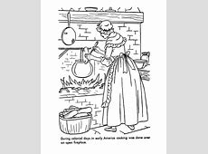 USAPrintables Early American Home Life Coloring Pages