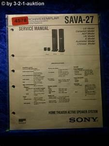 Sony Service Manual Sava 27 Active Speaker System   4578