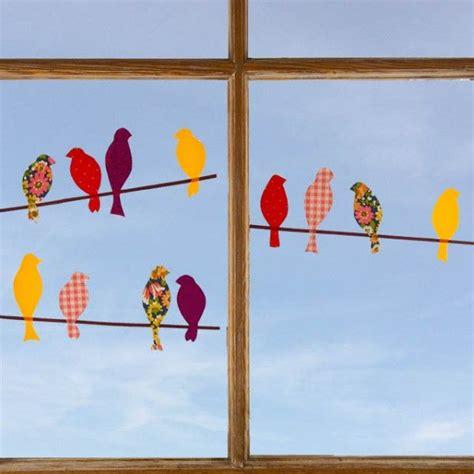 fensterdeko basteln mit kindern v 246 gel auf der stange basteln fensterdeko basteln vogel basteln und basteln herbst